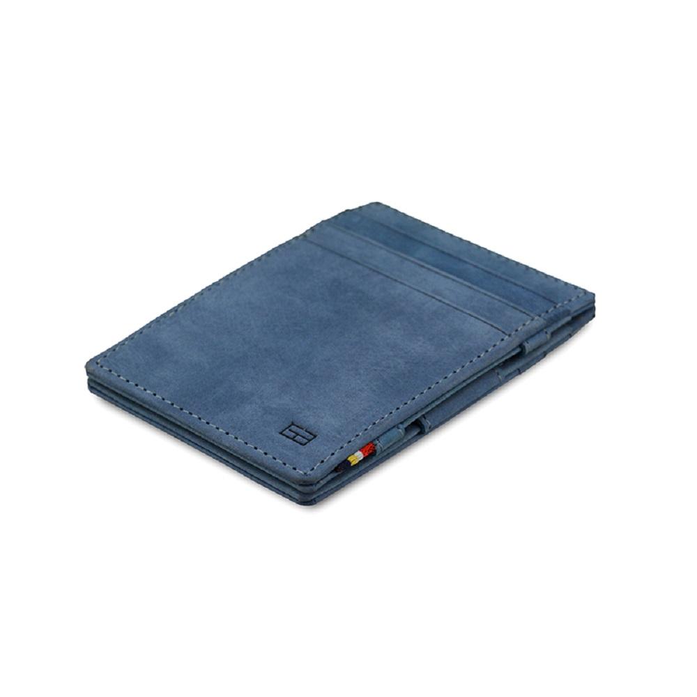 GARZINI 比利時翻轉皮夾 - 極簡款 - 藍色