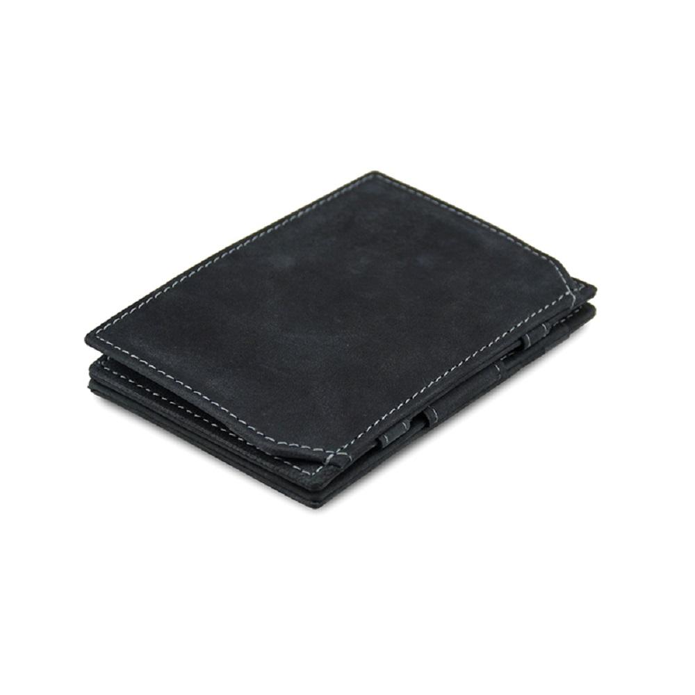 GARZINI 比利時翻轉皮夾 - 零錢袋款 - 鐵灰色