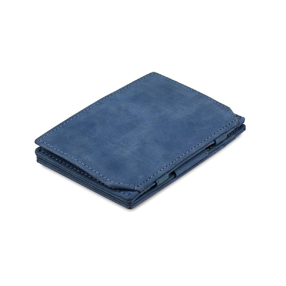 GARZINI|比利時翻轉皮夾 - 零錢袋款 - 藍色