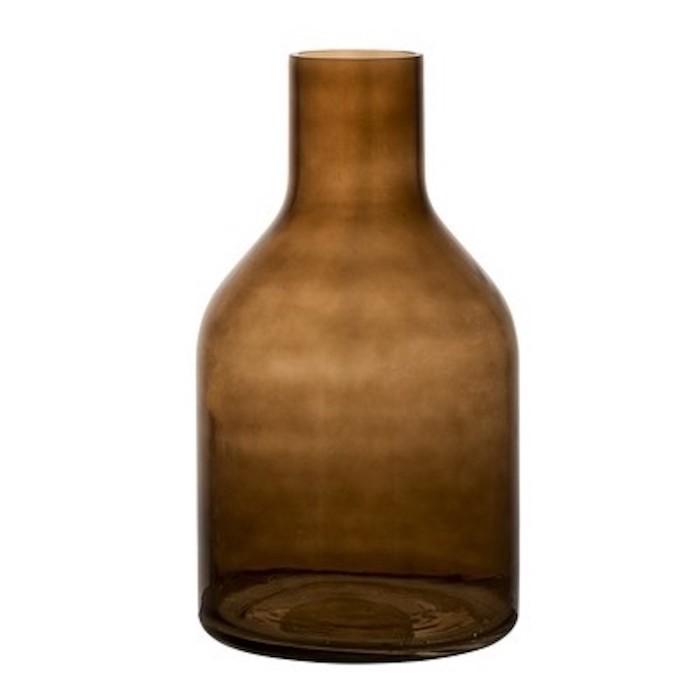Bloomingville 深咖啡色玻璃花瓶