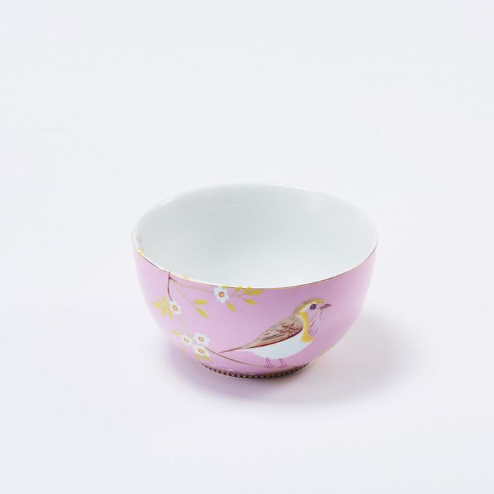 Pip Studio粉紅枝頭雛鳥餐碗
