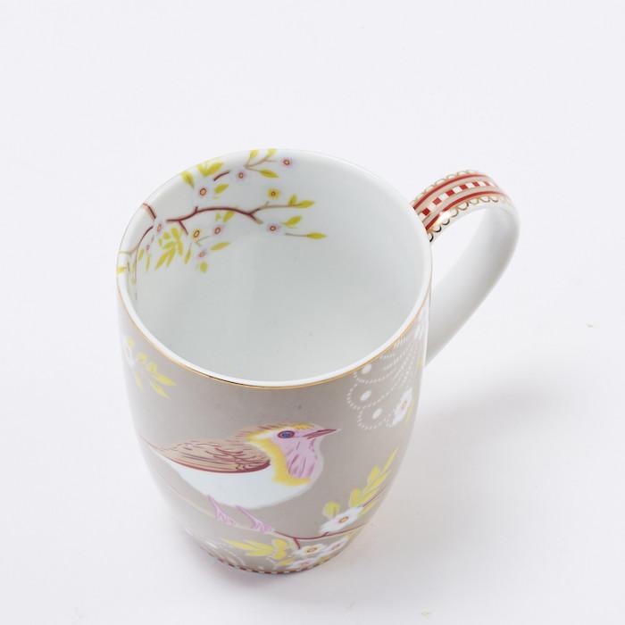 Pip Studiod卡其枝頭雛鳥馬克杯 (350ml)