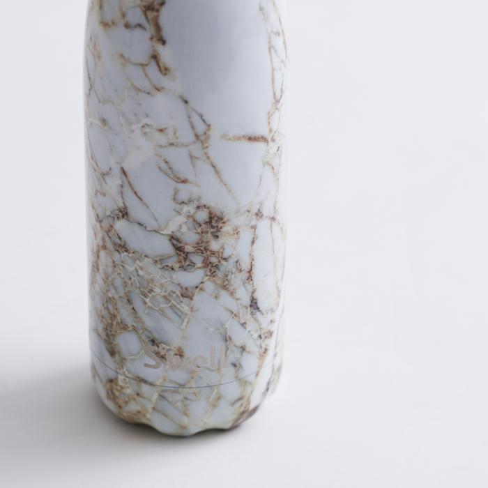 Swell時尚不鏽鋼水壺-Elements系列-Calacatta Gold 17oz.