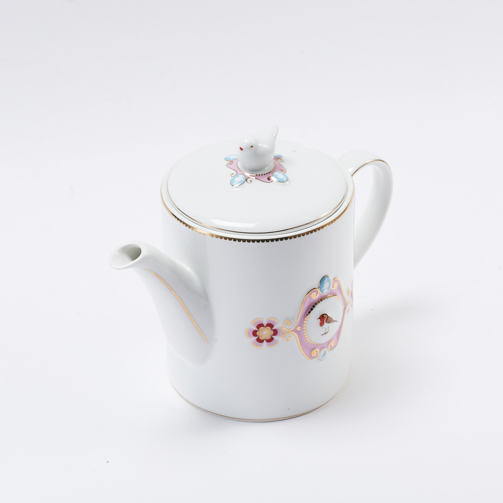 Pip Studio | 微粉愛情鳥茶壺