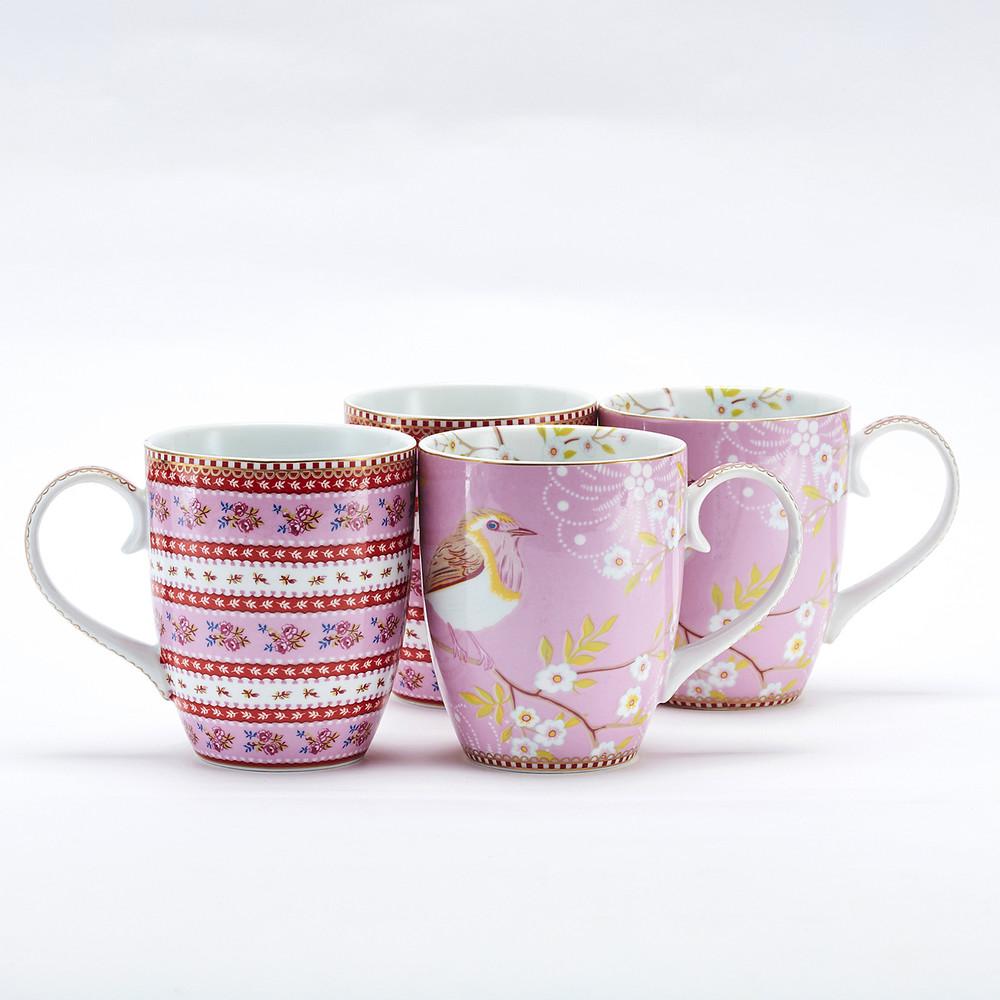 Pip Studio | 枝雛鳥與粉紅緞帶馬克杯禮