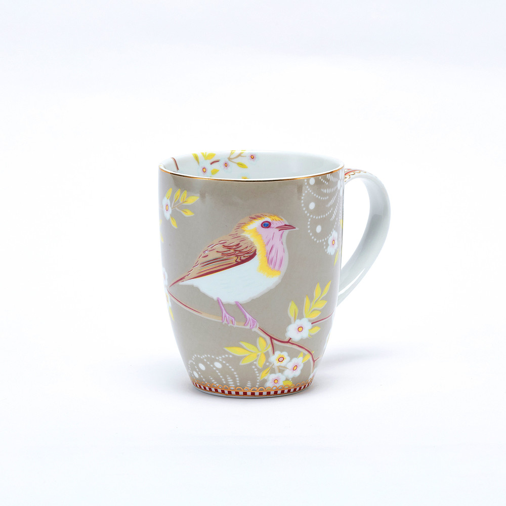 Pip Studiod|卡其枝頭雛鳥馬克杯 (350ml)