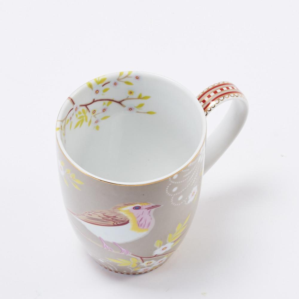 Pip Studio 卡其枝頭雛鳥馬克杯 (350ml)