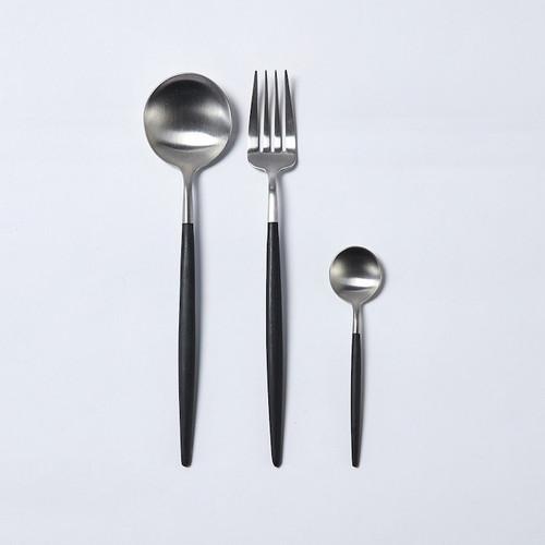 Cutipol|檀木戈亞霧面餐用湯匙