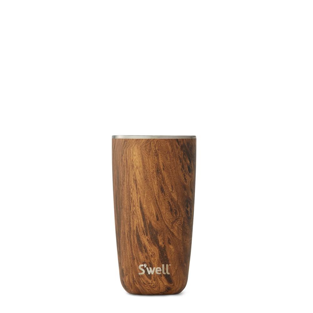 Swell|時尚不鏽鋼水杯+蓋Tumbler-Teakwood 18oz.+Tumbler Lid