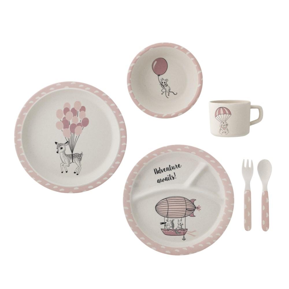 Bloomingville|兒童餐具 6件組-粉紅