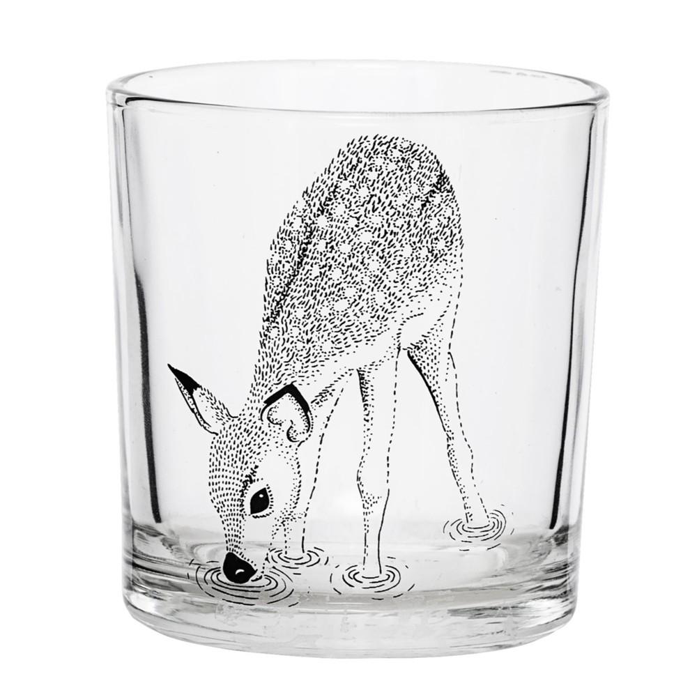Bloomingville|童話森林 玻璃杯跳躍小鹿4入