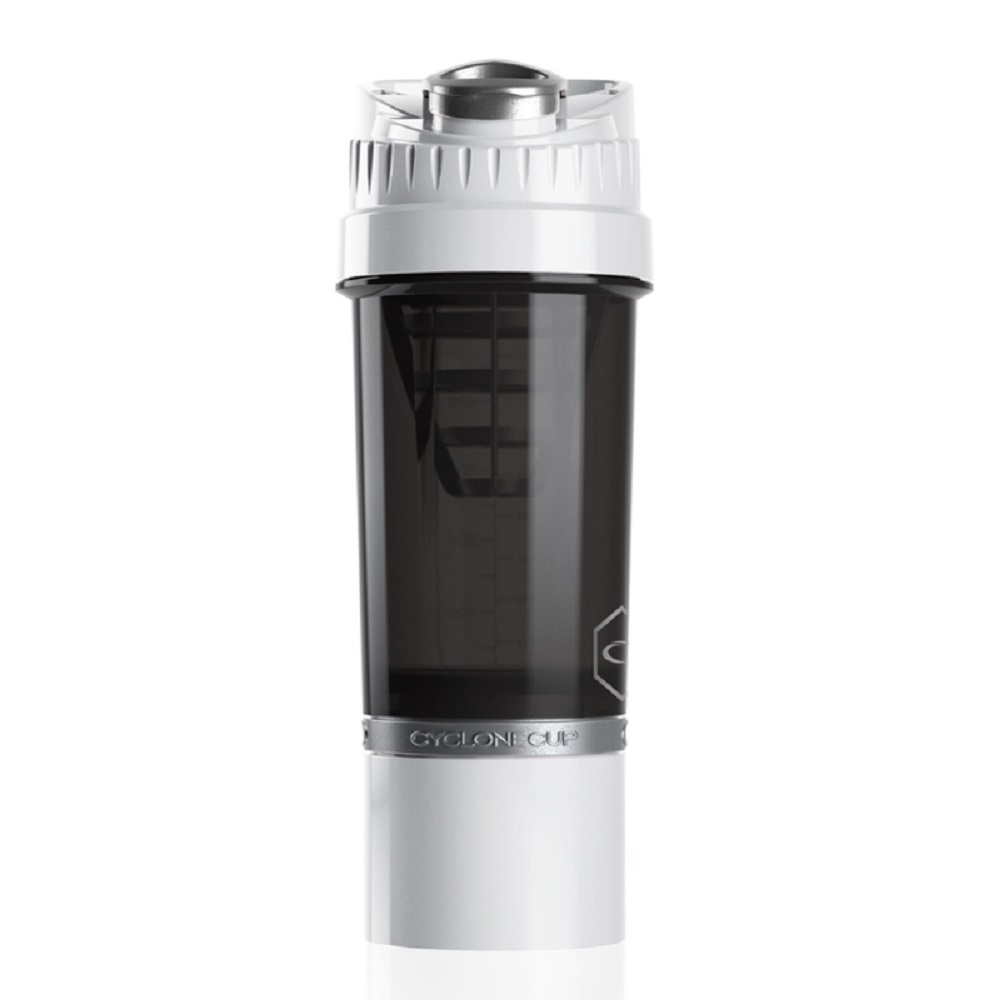 Cyclone cup   Amazing Shaker 無毒多功能運動休閒水壺 - 純淨白