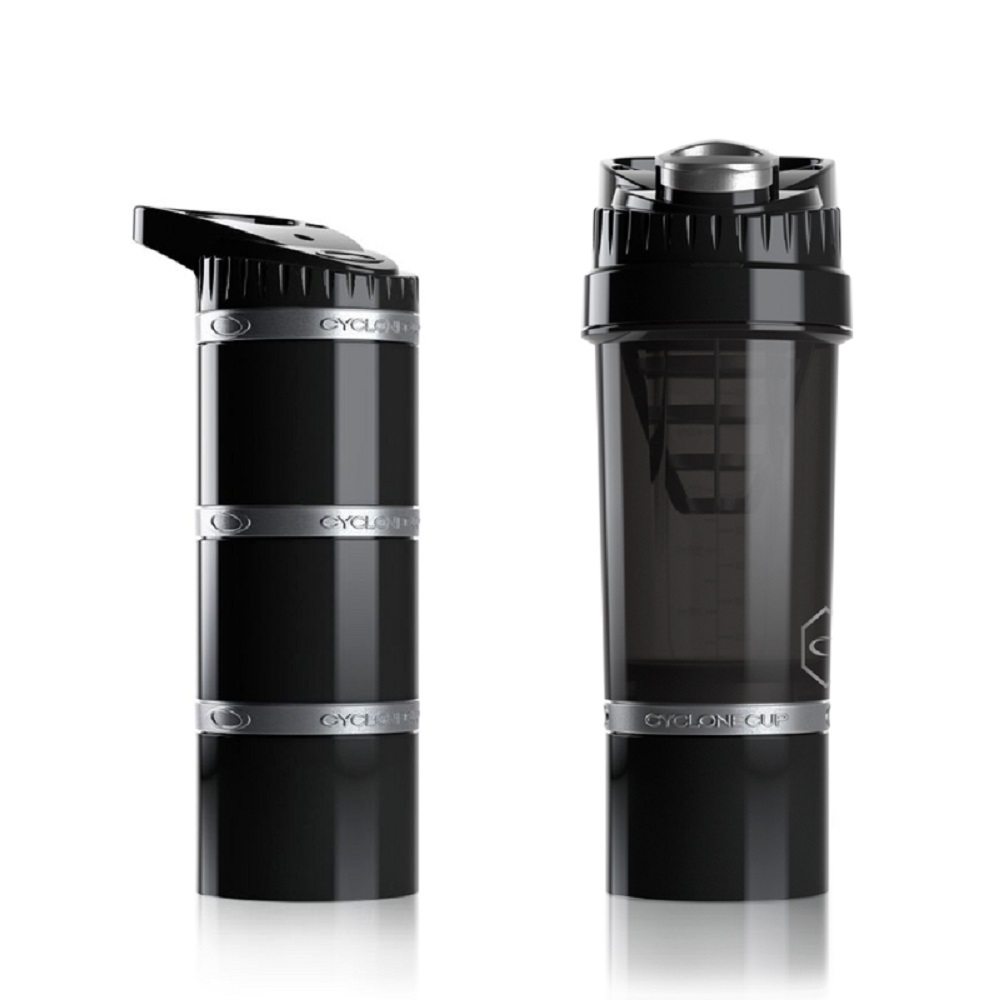 Cyclone cup   Amazing無毒多功能戶外休閒組(水壺+儲物罐) - 沉穩黑