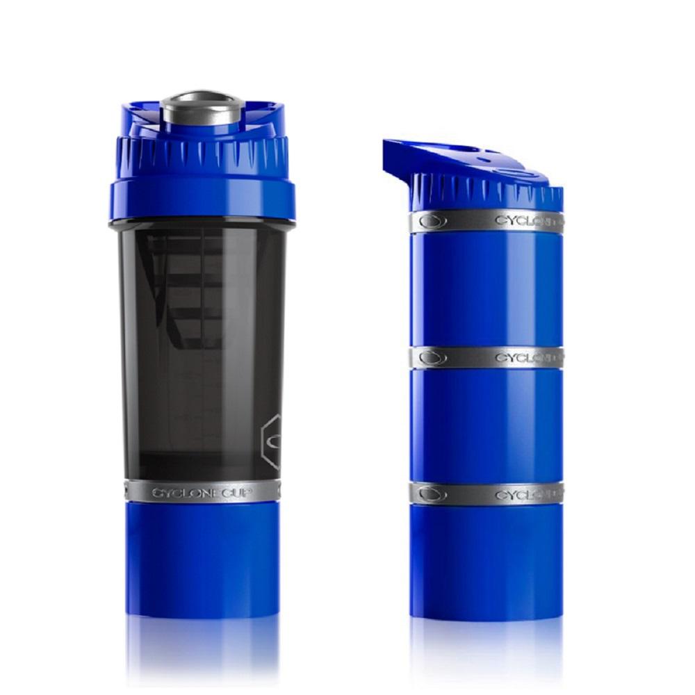 Cyclone cup | Amazing無毒多功能戶外休閒組(水壺+儲物罐) - 海水藍