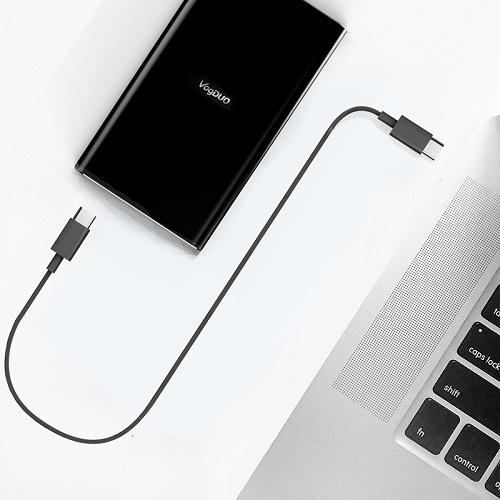 VogDUO   Cable Go 高速Type-C 2.0 To C 2.0傳輸充電線 (75cm)(經典黑)
