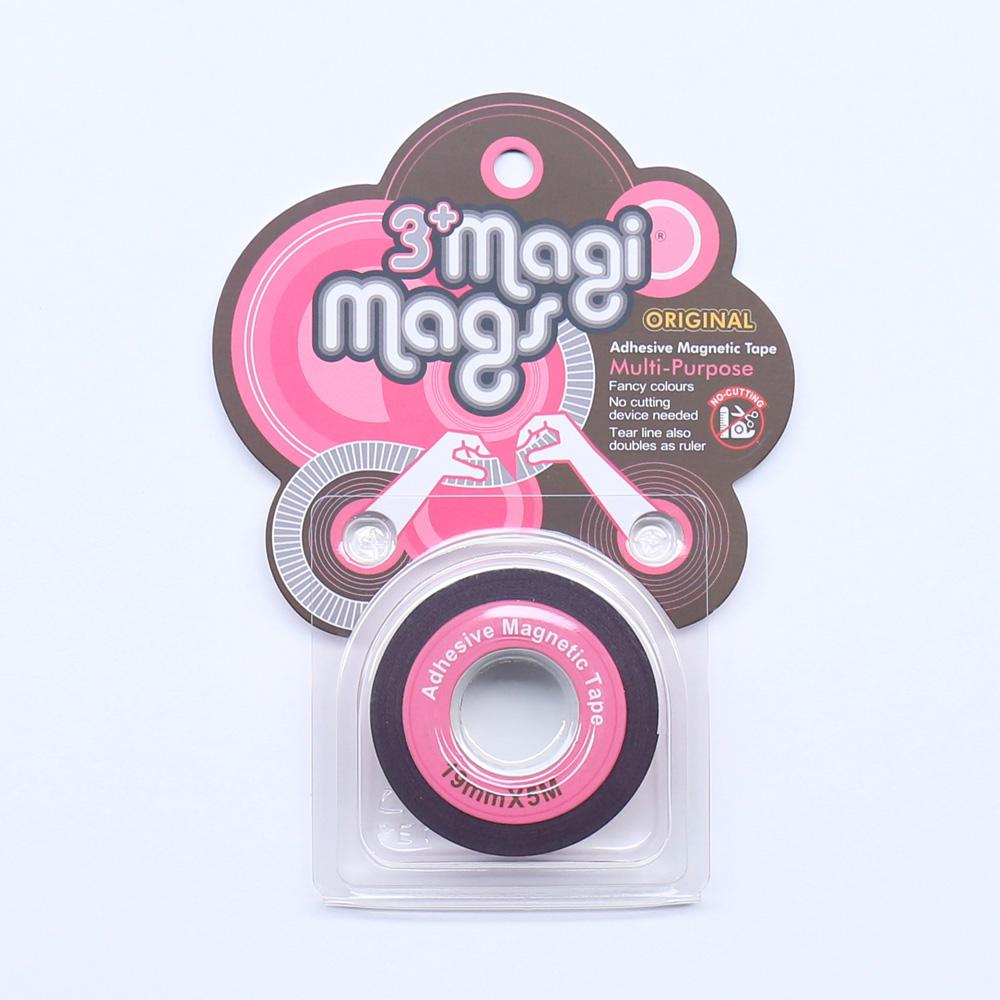 3+ Magi Mags|19 x 5 磁鐵膠帶 (霓虹粉)