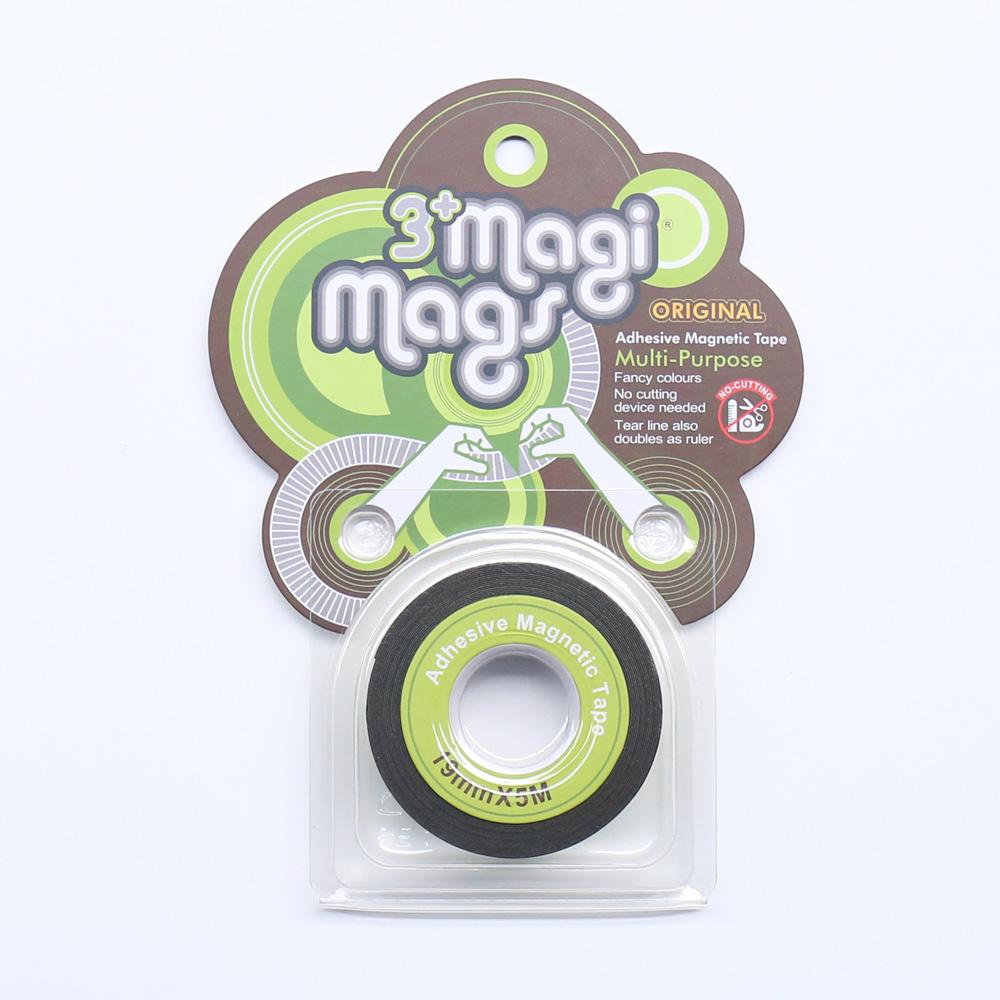 3+ Magi Mags|19 x 5 磁鐵膠帶 (霓虹綠)