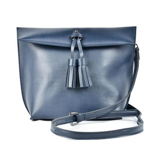 EYEXGIRL|Tassel Bag 簡約流蘇包(藍色)