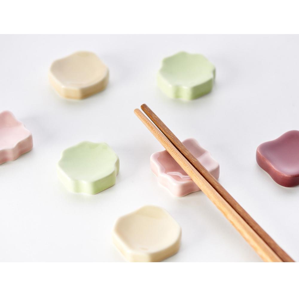 TZULAï|老磁磚系列_花磚陶瓷筷架組