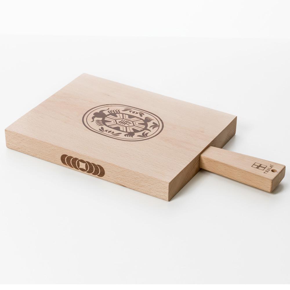 TZULAï|木製點心盤_紅龜粿盤
