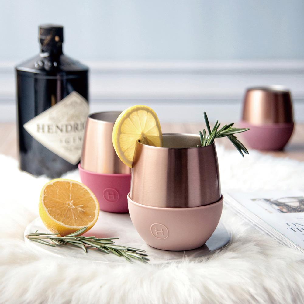 美國HYDY |  Delicia 系列 時尚蛋型杯(蜜粉金-拿鐵)