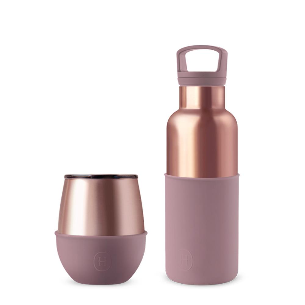 美國HYDY| CinCin  Delicia 時尚蛋型杯 (蜜粉金杯瓶組合)