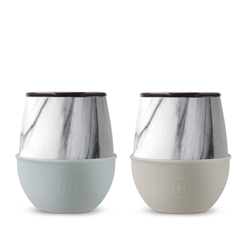 美國HYDY   Delicia 系列時尚大理石蛋型杯2入組
