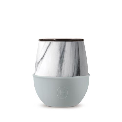 美國HYDY | Delicia 系列時尚蛋型杯(大理石-積雲)