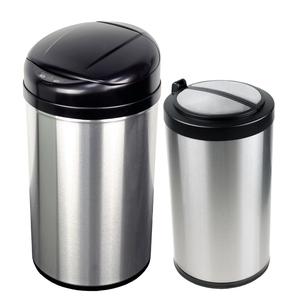 美國NINESTARS 時尚不銹鋼感應垃圾桶40L+12L(買大送小廚衛優惠組)