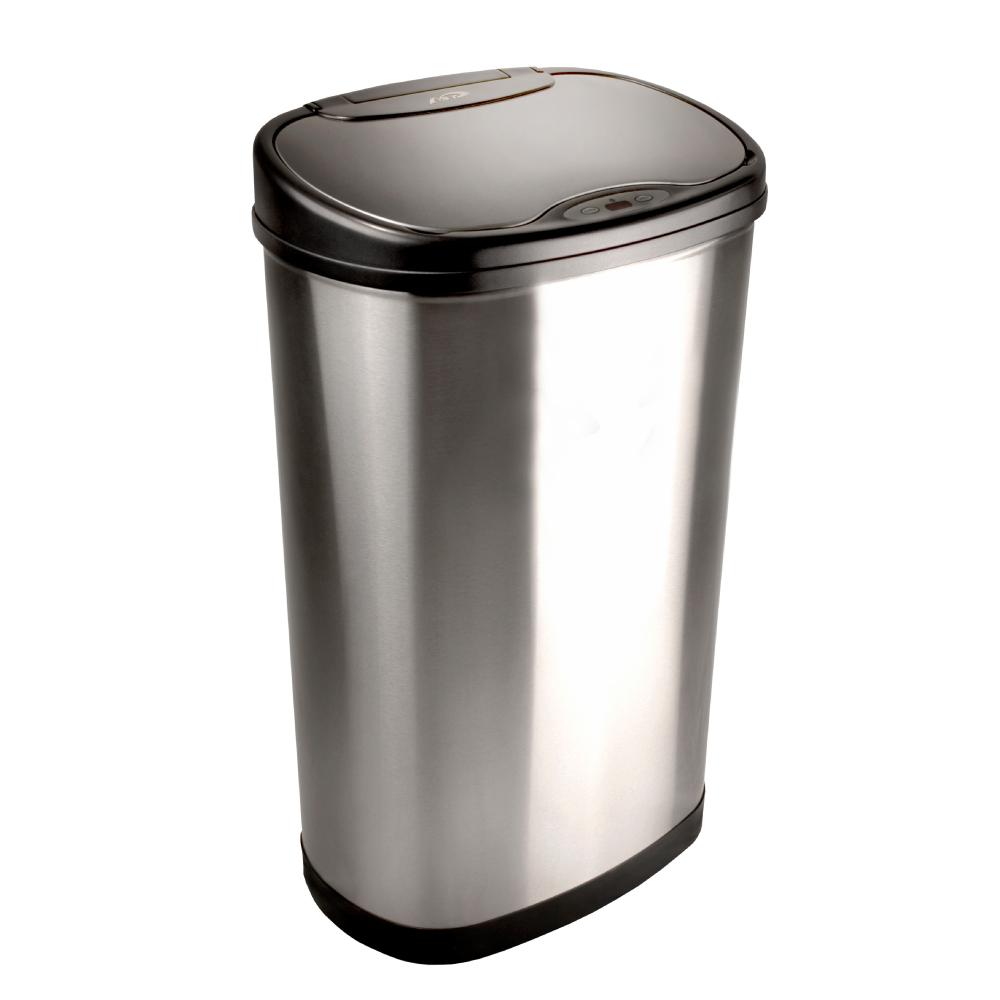 美國NINESTARS|時尚不銹鋼感應垃圾桶50L(廚衛系列)