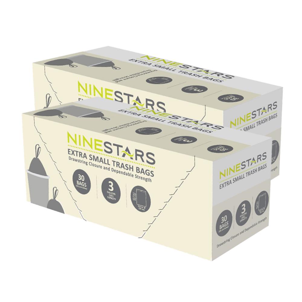 美國NINESTARS|專業收納垃圾袋12L-超值二入組