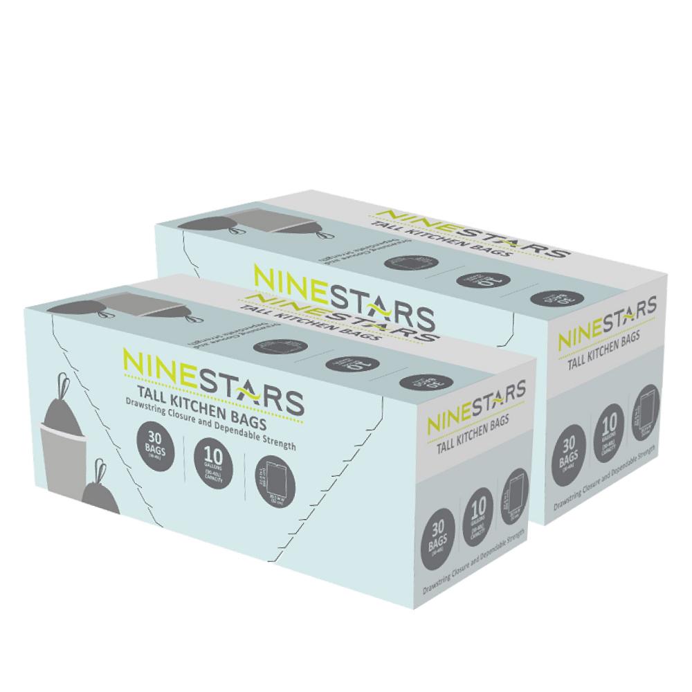 美國NINESTARS|專業收納垃圾袋40L-超值二入組