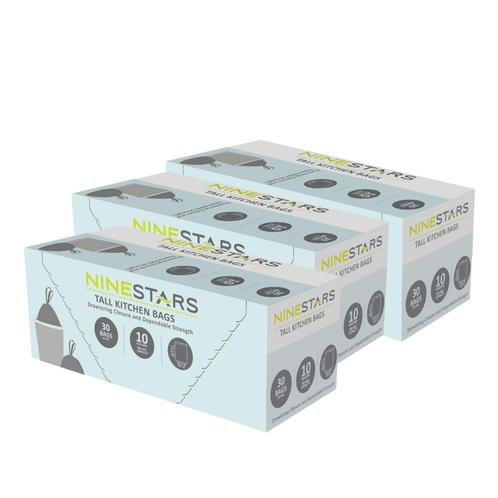 美國NINESTARS|專業收納垃圾袋40L-超值三入組