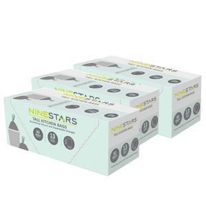 美國NINESTARS|專業收納垃圾袋50L-超值三入組