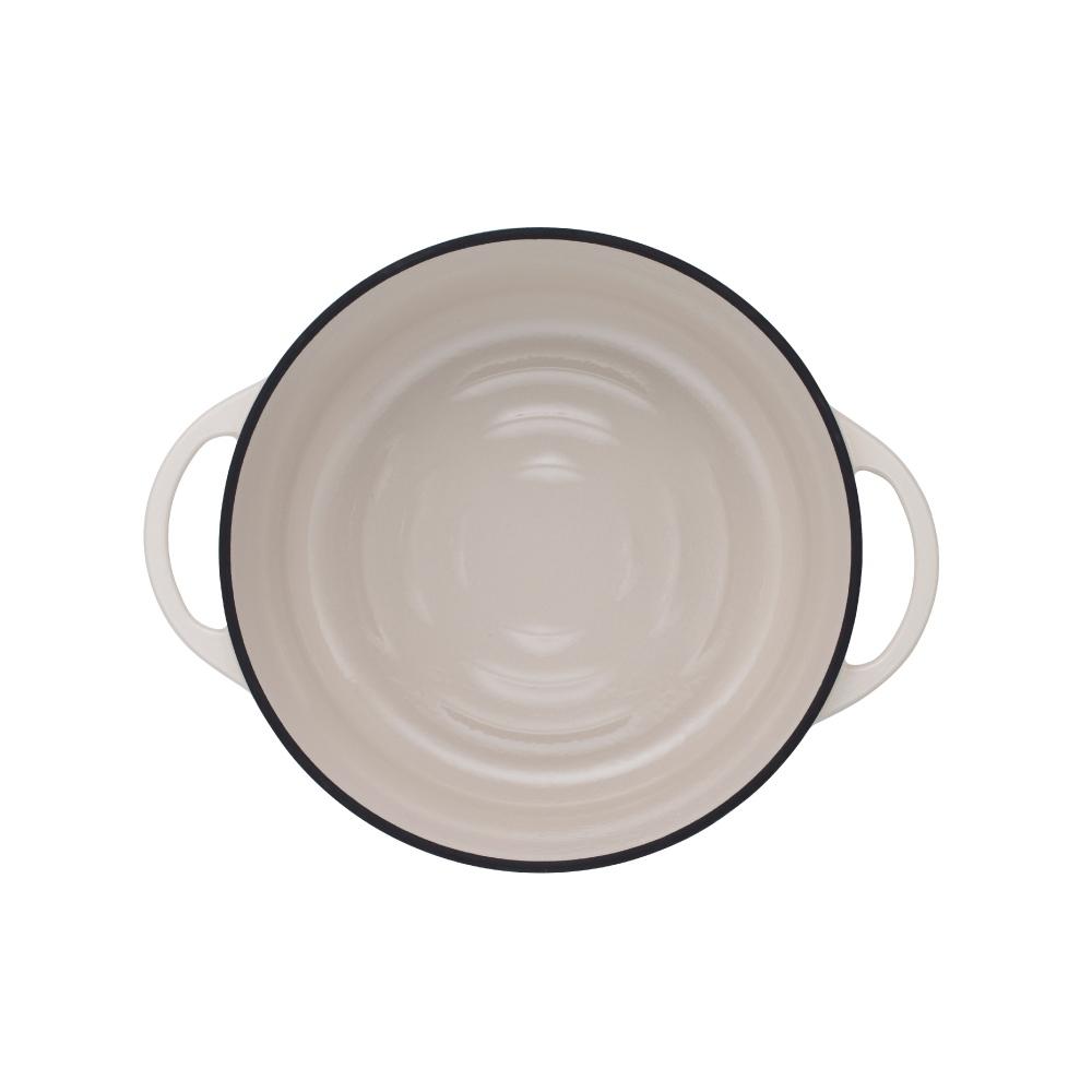 日本Vermicular|琺瑯鑄鐵鍋26cm(米黃)VPOT26-NB