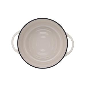 日本Vermicular 琺瑯鑄鐵鍋26cm(米黃)VPOT26-NB