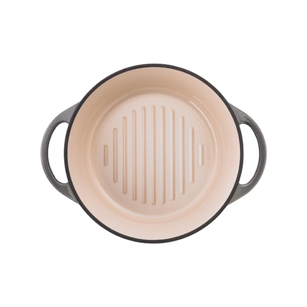 日本Vermicular|琺瑯鑄鐵鍋18cm(珍珠灰)VPOT18-GY