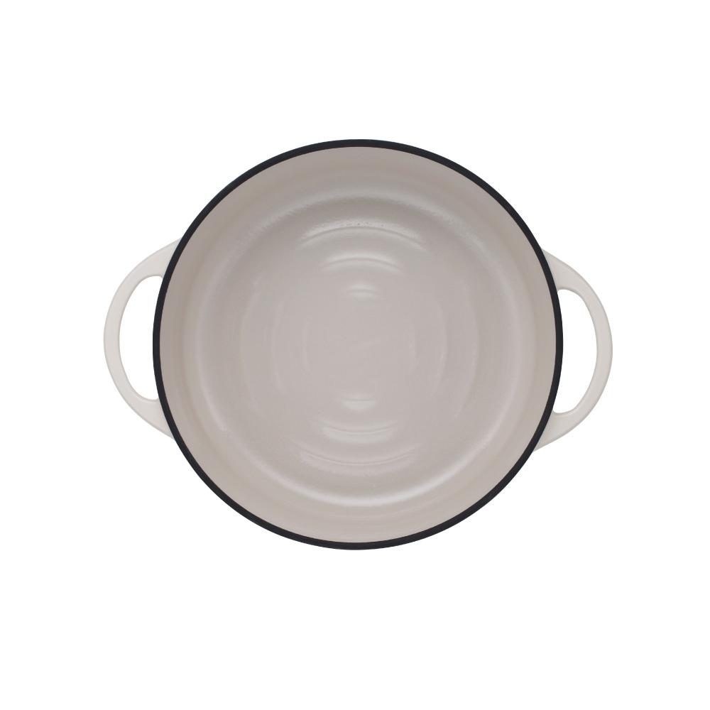 日本Vermicular|琺瑯鑄鐵鍋26cm淺鍋(米黃)VPOT26S-NB