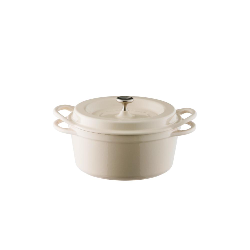日本Vermicular|琺瑯鑄鐵鍋18cm(米黃)VPOT18-NB