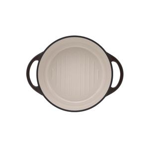 日本Vermicular|琺瑯鑄鐵鍋22cm(珍珠棕)VPOT22-BN