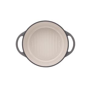 日本Vermicular|琺瑯鑄鐵鍋22cm(珍珠灰)VPOT22-GY