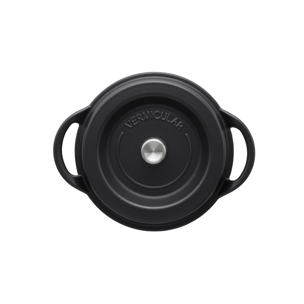 日本Vermicular|琺瑯鑄鐵鍋22cm(碳黑)VPOT22-MK