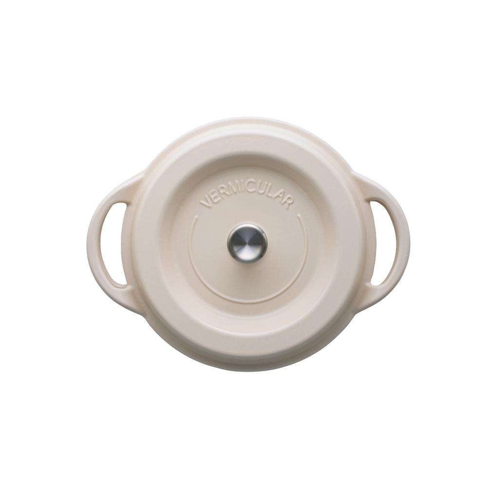 日本Vermicular|琺瑯鑄鐵鍋22cm(米黃)VPOT22-NB