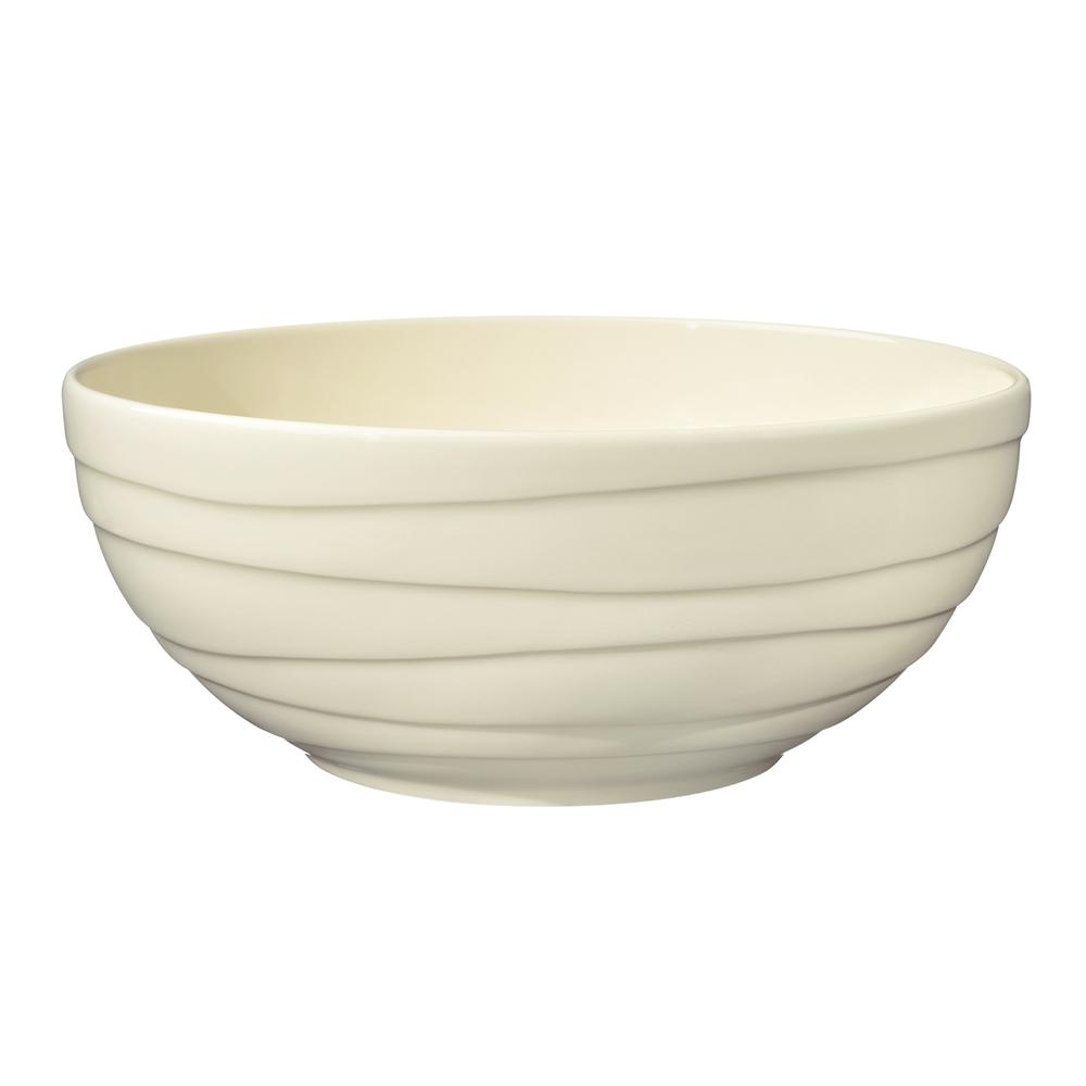 英國Jamie Oliver 波浪紋設計白瓷沙拉碗24公分