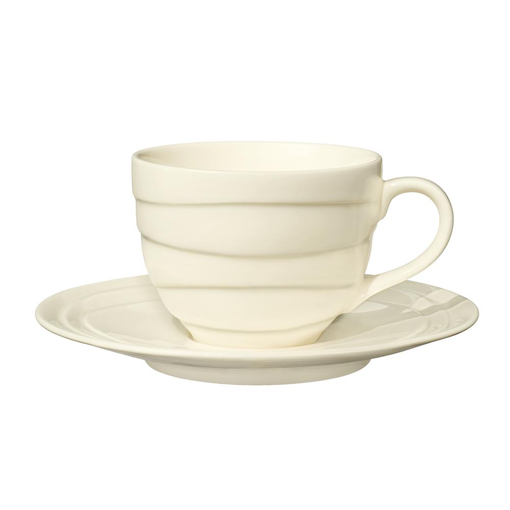 英國Jamie Oliver|波浪紋設計白瓷杯盤組
