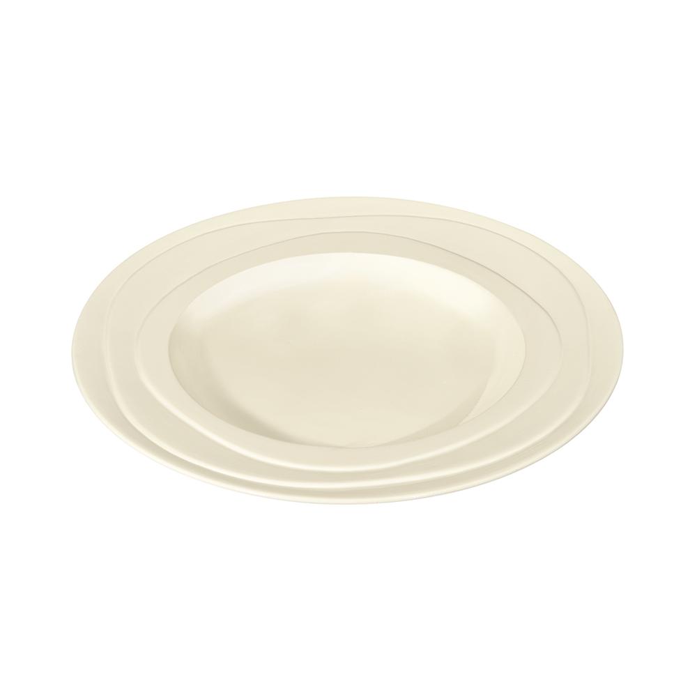 英國Jamie Oliver|波浪紋設計白瓷深盤23公分