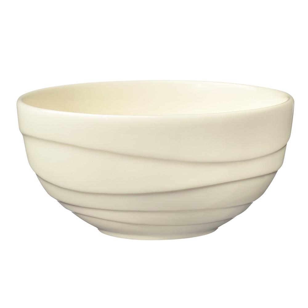 英國Jamie Oliver|波浪紋設計白瓷碗13公分