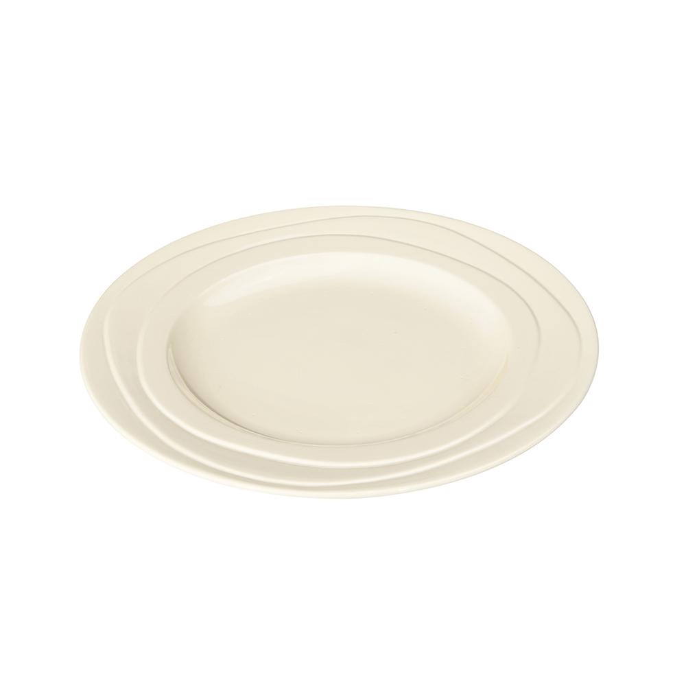 英國Jamie Oliver 波浪紋設計白瓷盤21公分