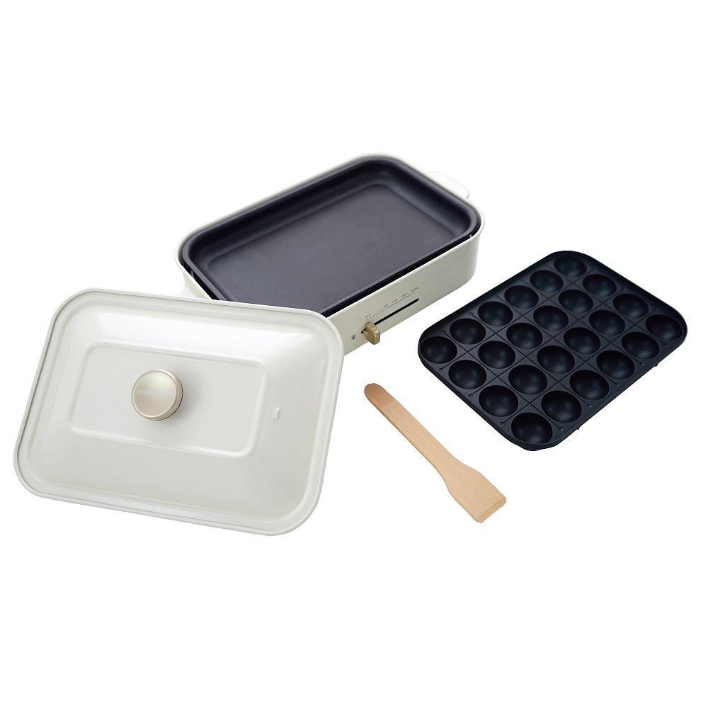 綠恩家enegreen|日式多功能烹調電烤盤(珍珠白)KHP-770T