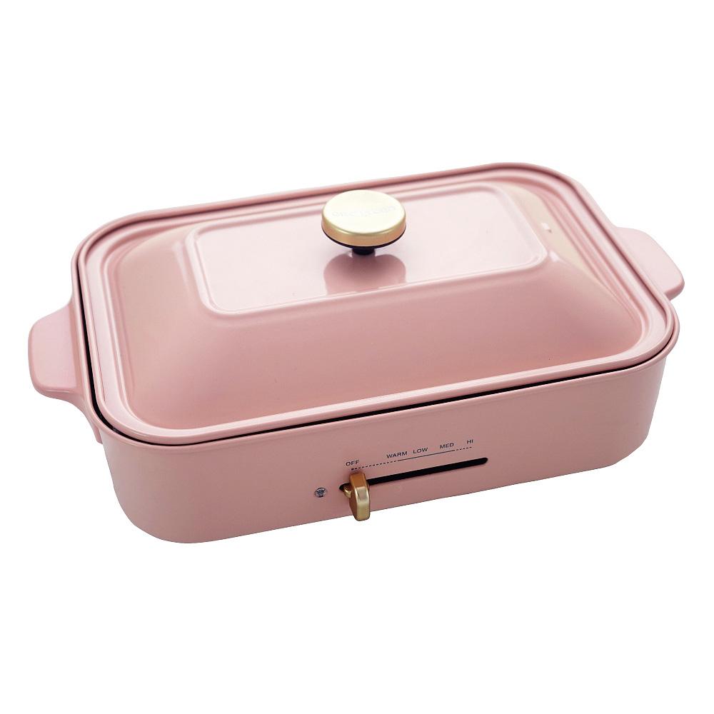 綠恩家enegreen|日式多功能烹調電烤盤(櫻花粉)KHP-770TP